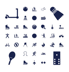 37 activity icons vector