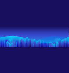 abstract blue background at night with digital vector image