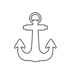 anchor nautical object vector image