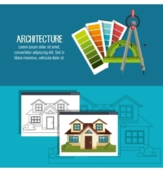 architectural work design vector image