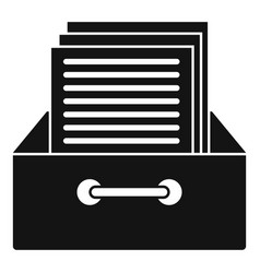 Archive papers icon simple style vector