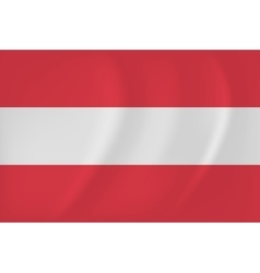 Austria waving flag vector image
