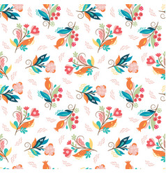 Beautiful seamless pattern color whimsical flower vector