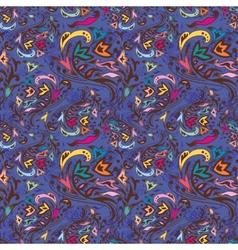 Blue swirl pattern vector image
