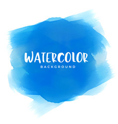 blue watercolor paint texture background vector image