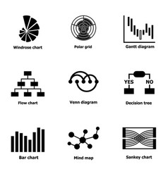 business exit icons set simple style vector image