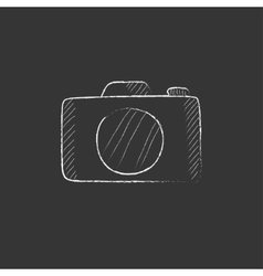 Camera Drawn in chalk icon vector image