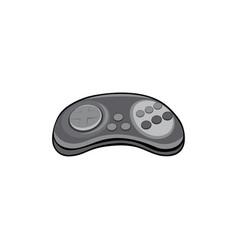 Classic sega stick controller game console vector
