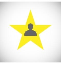 Classic star icon vector