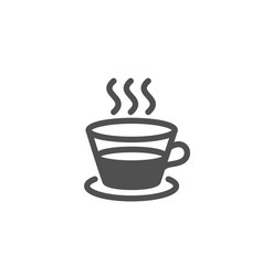 coffee and tea simple icon hot drink sign vector image