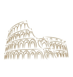 coliseum sketch vector image