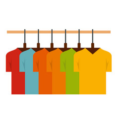 Collection tshirt on hanger icon flat style vector