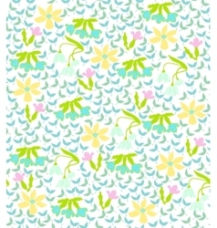 Colorful background with spring flowers vector