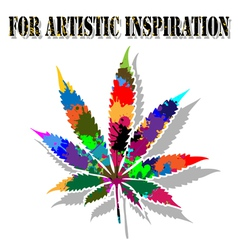 Colorful marijuana vector image vector image