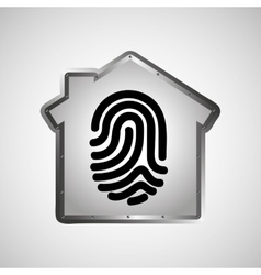 Computer data protection fingerprint graphic vector