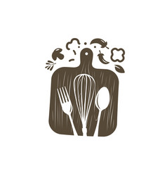 Cooking logo or label culinary art cuisine vector