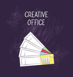 creative office design vector image