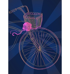 Dark Background with bike vector image