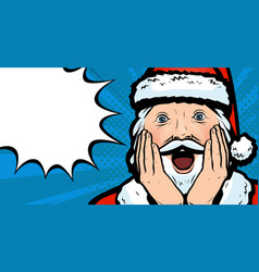 delighted santa claus christmas vector image