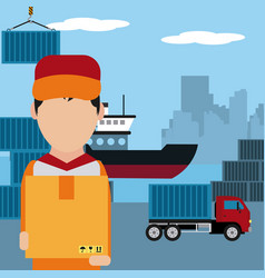 delivery and logistics concept vector image