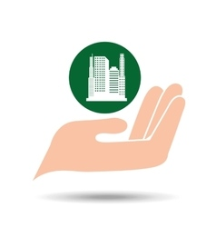 environment friendly city concept vector image