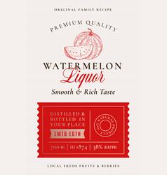 Family recipe watermelon liquor acohol label vector