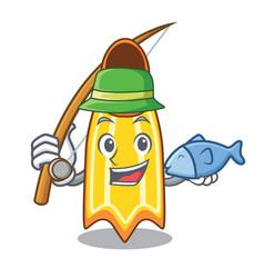 Fishing swim fin mascot cartoon vector