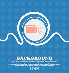 Flashlight icon sign Blue and white abstract vector