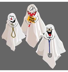 Funny cartoon ghost vector