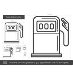 gas station line icon vector image