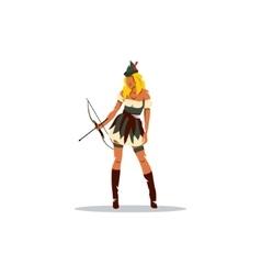 Girl Robin Hood vector image