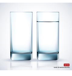 Glass with water on white background vector