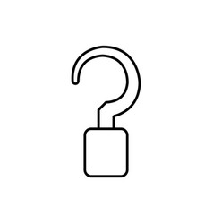 Hook icon image vector