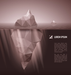 Iceberg under water vector
