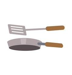 Icon frying pan vector