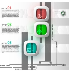 infographics 3 steps vector image