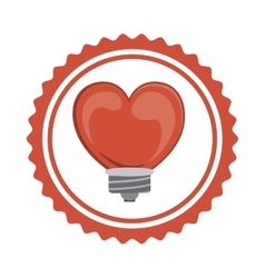 Isolated heart and bulb of love concept vector