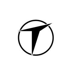letter t emblem logo vector image