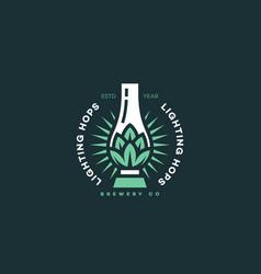 Lighting hops logo vector