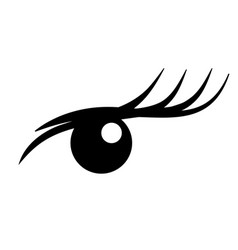 logo eyelash extension a beautiful make-up vector image