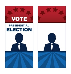 Man President Election Brochure Covers vector