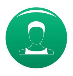 Man user icon green vector