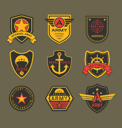 Military insignia or army badge american soldier vector