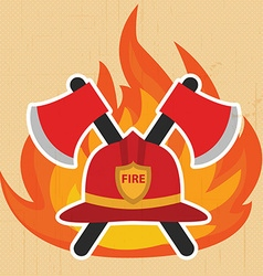 Modern firefighter sign fire intervention vector