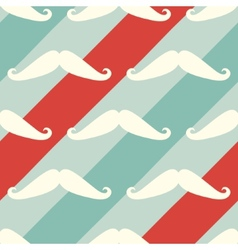 Mustache seamless barber shop pattern vector image