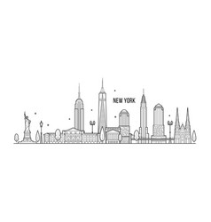new york skyline usa big city buildings vector image