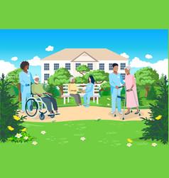 nursing home vector image