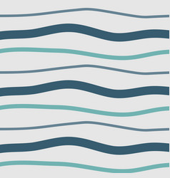 pattern with blue lines hand drawn vector image