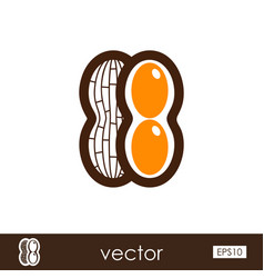 peanut outline icon vegetable vector image