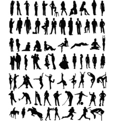 People sillhouettes vector